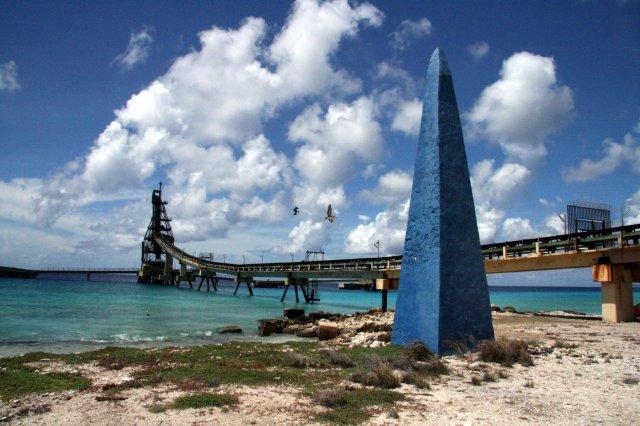 Salt Pier, Bonaire by Paul Beckman