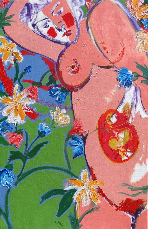 Maternité aux fleurs by Francis Denis