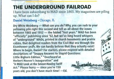 MAD MAG #532  LETTER